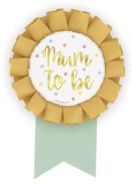 Hello Baby Gold Mum To Be Foil Badge
